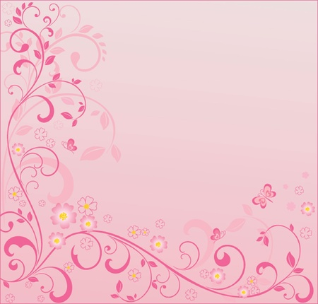 Pink floral background. See my gallery for more Stock Vector - 18760778