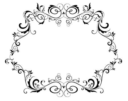flore: Vintage black frame