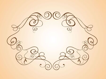 golden border: Wedding vintage frame Illustration