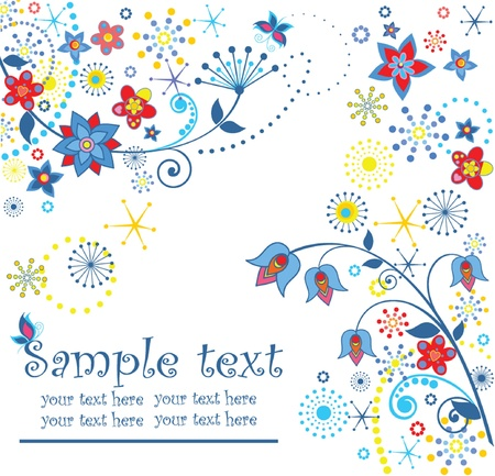 Abstract greeting card Vector