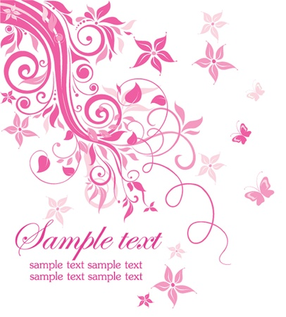 pink butterfly: Beutiful pink card