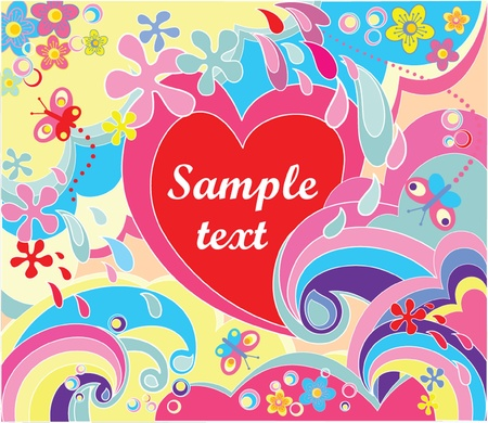 Colorful valentine poster Stock Vector - 18760799