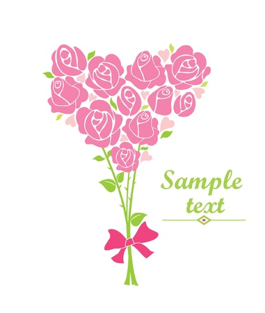 Greeting bouquet with rose Stock Vector - 18760808