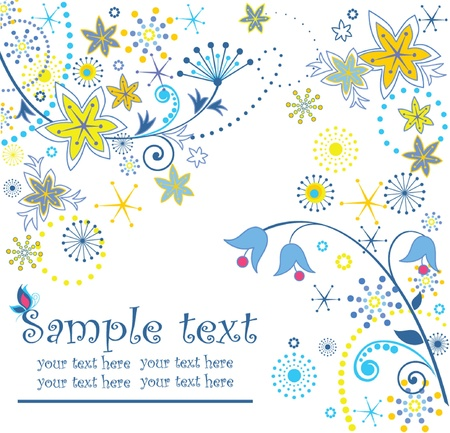 Greeting card Stock Vector - 18760842