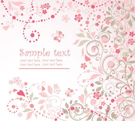 Greeting pink background Stock Vector - 18760907