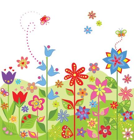 Greeting seamless card Vektorové ilustrace