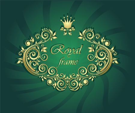 Royal gold frame Stock Vector - 18760856