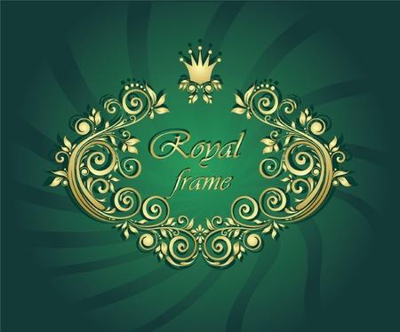 Royal gold frame Stock Vector - 18760856
