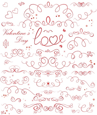 Set of valentine ribbons Stock Vector - 18760961