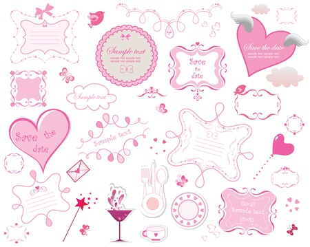Valentine's frames collection Vector