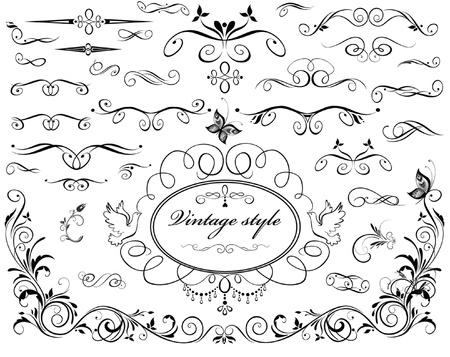 calligraphic design: Vintage dividers