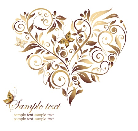 heart with text: Vintage heart shape