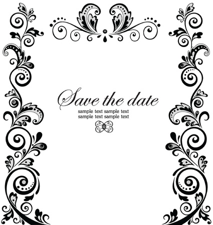 invitaci�n matrimonio: Frontera de la boda del vintage