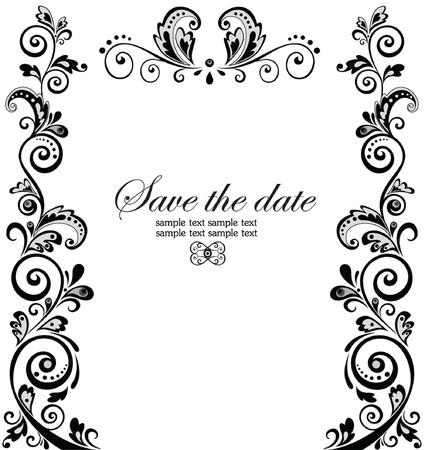 marriage invitation: Vintage wedding border