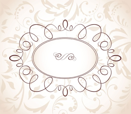 Wedding retro frame Illustration