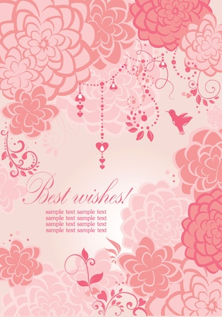Beautiful pink banner Vector