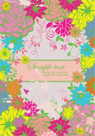 Floral colorful banner Vector