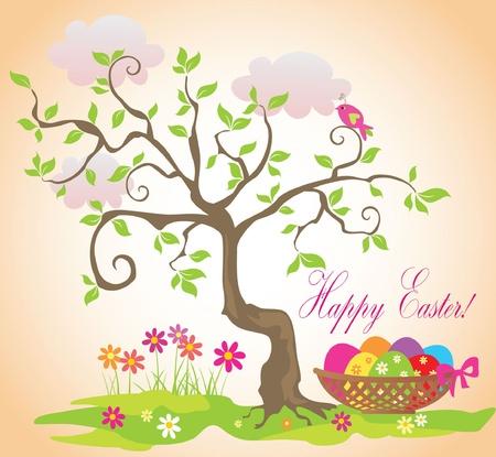 arbol de pascua: Tarjeta divertida de Pascua