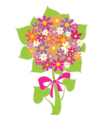 Funny greeting bouquet Stock Vector - 18760776