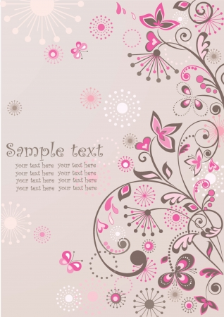 Greeting floral banner Vector