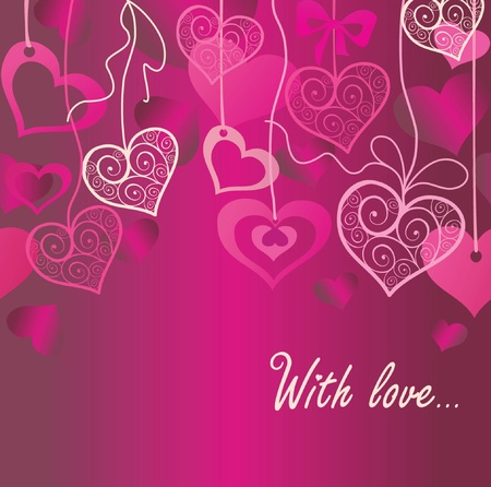 Seamless Valentine background Vector