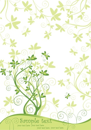 Spring green banner Stock Vector - 18760830