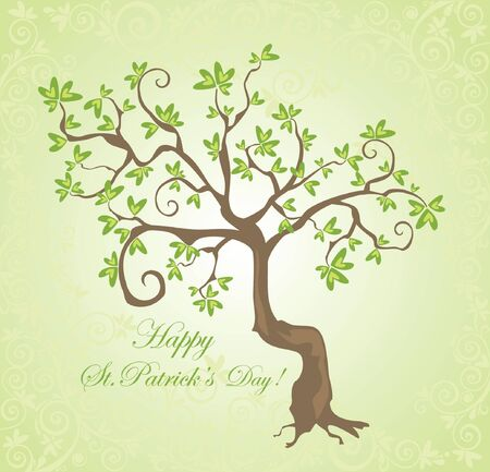Tree for St  Patrick Vector