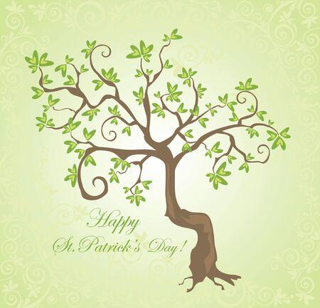 saint patrick s day: Tree for St  Patrick