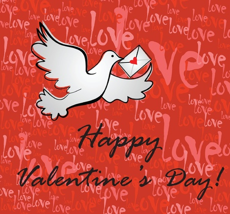 Valentine background with greeting message Stock Vector - 18760925