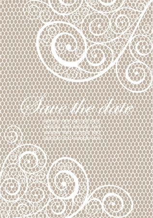 Vintage background with lace Vector