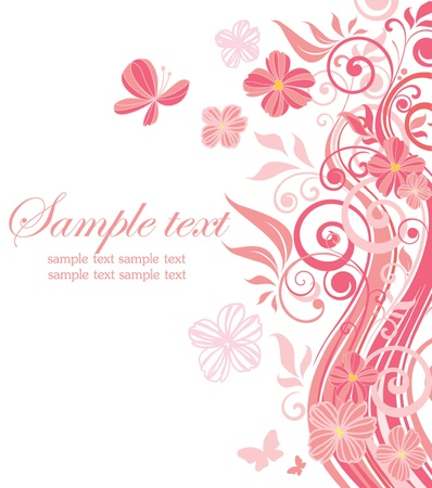 birth day: Beautiful pink border