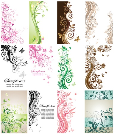 butterfly border: Beautiful vertical cards Illustration