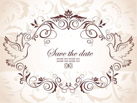 invitacion boda vintage: Tarjeta de la enhorabuena