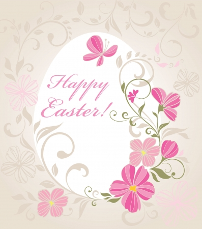 flores: Easter beautiful card