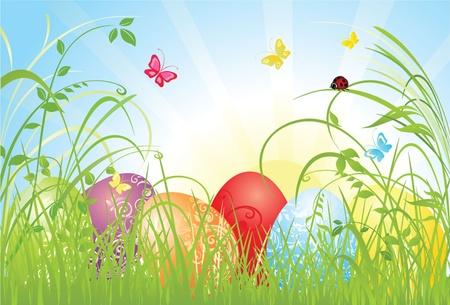 Easter card Vector