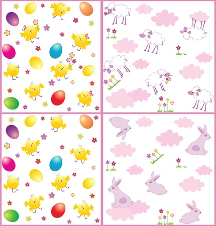Easter seamless wrappers Stock Vector - 18806744