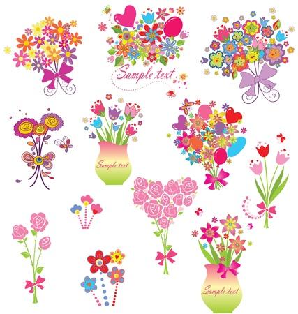 bouquet fleur: Bouquets de voeux dr�les Illustration