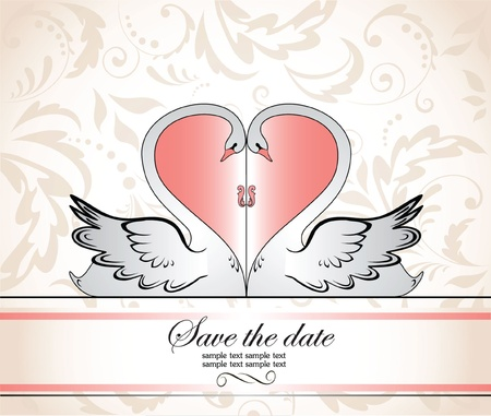 Greeting wedding frame Vector