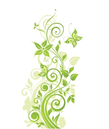 Spring green tree Vector