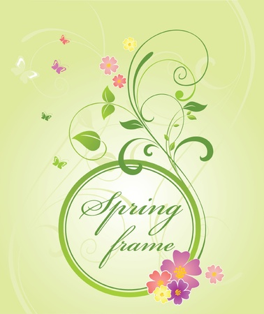 Beautiful spring frame Vector