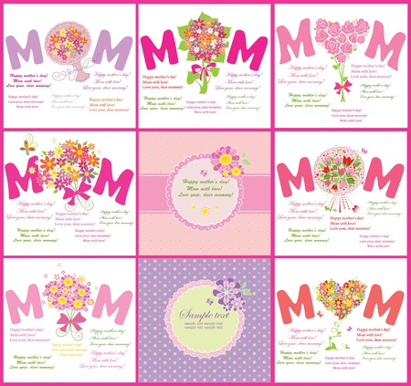 Cards for Mother Vector