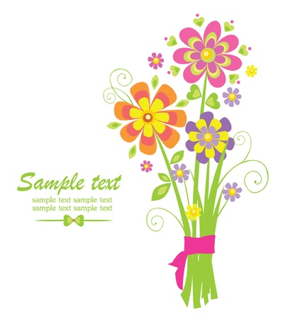 Funny greeting bouquet Stock Vector - 18806660