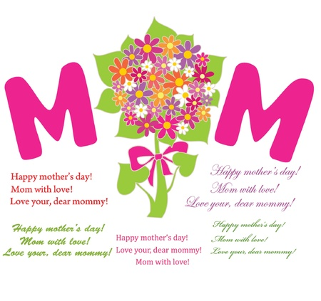 Greeting card for Mother Stock Vector - 18806721