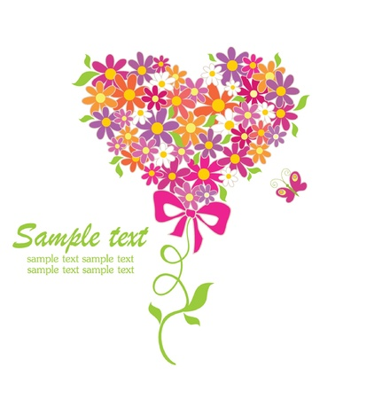 Greeting card with funny bouquet Stock Vector - 18806688