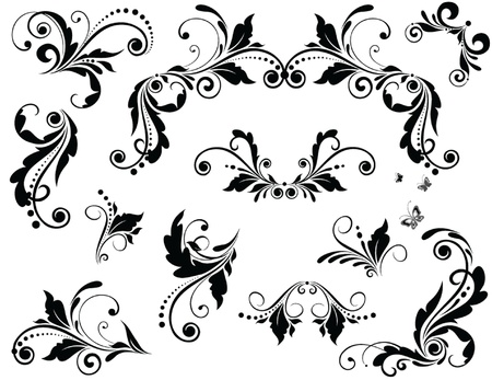 tatouage fleur: Design Vintage Illustration