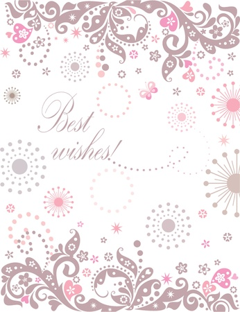 Abstract greeting banner Vector