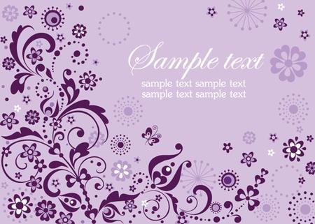 Abstract violet visiting card Vector