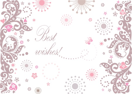 Beautiful arrival card Vector