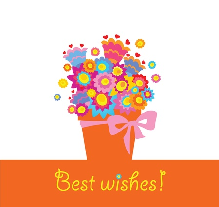 best wishes: Best wishes! Illustration