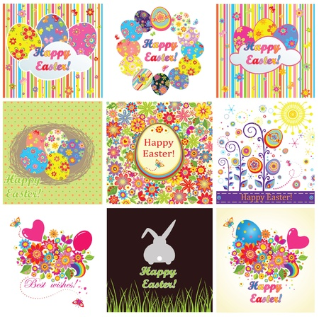 Easter cards Stock Vector - 18806763